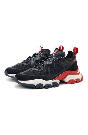Мужские комбинированные кроссовки leave no trace MONCLER темно-синего цвета, арт. F2-09A-4M703-40-02SH4 | Фото 1