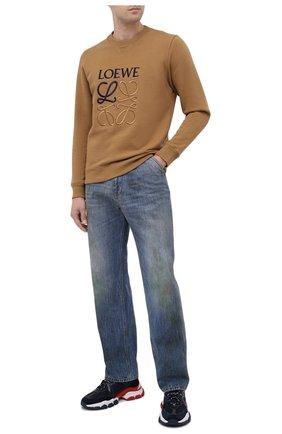 Мужские комбинированные кроссовки leave no trace MONCLER темно-синего цвета, арт. F2-09A-4M703-40-02SH4 | Фото 2