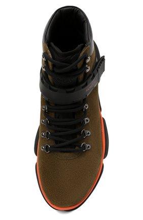 Мужские замшевые ботинки bubble boots MONCLER хаки цвета, арт. F2-09A-4M500-00-02SGM | Фото 5 (Мужское Кросс-КТ: Хайкеры-обувь, Ботинки-обувь; Материал внутренний: Натуральная кожа; Подошва: Массивная)