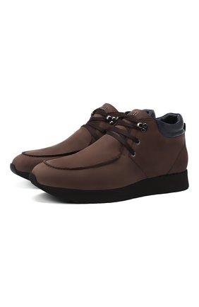 Мужские кожаные ботинки ZILLI коричневого цвета, арт. MDU-T127/005 | Фото 1