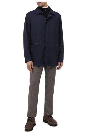 Мужские кожаные ботинки ZILLI коричневого цвета, арт. MDU-T127/005 | Фото 2