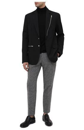 Мужские кожаные оксфорды ROCCO P. черного цвета, арт. 11043/SHINE   Фото 2