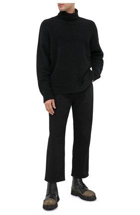 Мужские кожаные ботинки ROCCO P. черного цвета, арт. 11305/ANTIK | Фото 2