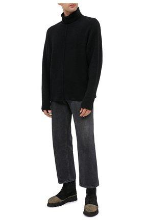 Мужские комбинированные сапоги ROCCO P. черного цвета, арт. 11306/SENS0RY | Фото 2