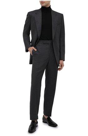 Мужские кожаные пенни-лоферы TOD'S черного цвета, арт. XXM66C0DQ90MRK | Фото 2