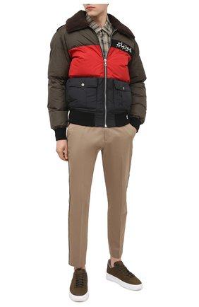 Мужские кожаные кеды TOD'S хаки цвета, арт. XXM79B0DK216RN | Фото 2 (Подошва: Массивная)