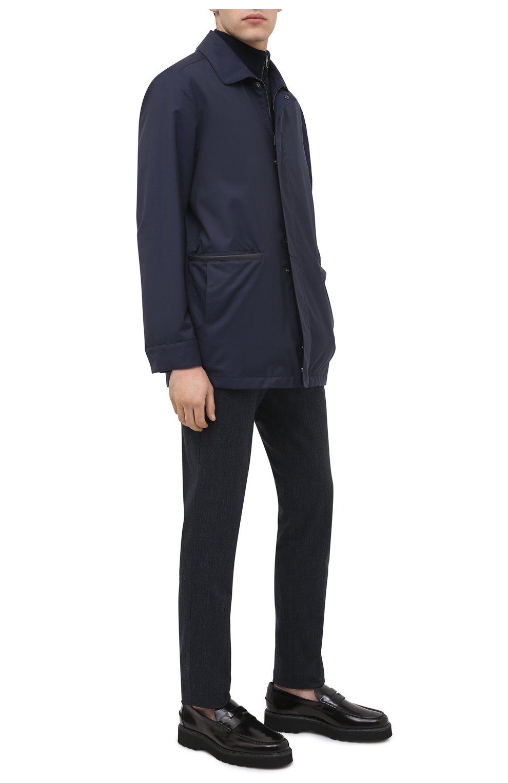 Мужские кожаные пенни-лоферы TOD'S черного цвета, арт. XXM80C00640AKT | Фото 2