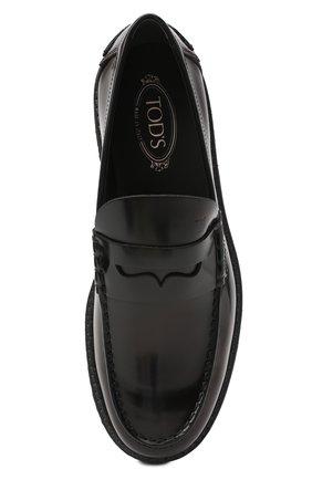 Мужские кожаные пенни-лоферы TOD'S черного цвета, арт. XXM80C00640AKT | Фото 5