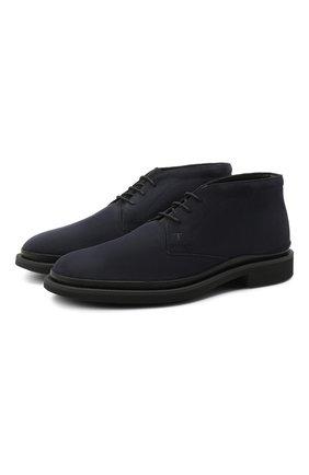 Мужские замшевые ботинки TOD'S темно-синего цвета, арт. XXM89B0DM51HSE | Фото 1