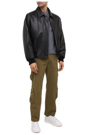 Мужские кожаные кеды triple stitch ZEGNA COUTURE белого цвета, арт. A4665X-LHSPT | Фото 2