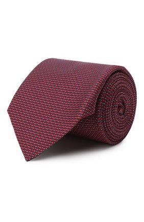 Мужской шелковый галстук CORNELIANI красного цвета, арт. 86U302-0820303/00 | Фото 1