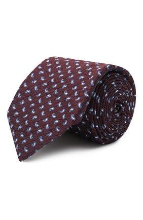 Мужской шелковый галстук CORNELIANI бордового цвета, арт. 86U302-0820317/00   Фото 1