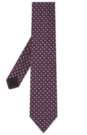 Мужской шелковый галстук CORNELIANI бордового цвета, арт. 86U302-0820317/00   Фото 2