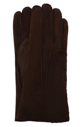 Мужские замшевые перчатки LORO PIANA коричневого цвета, арт. FAL4819 | Фото 1