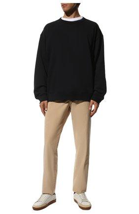 Мужские хлопковые брюки LORO PIANA бежевого цвета, арт. FAL4069 | Фото 2