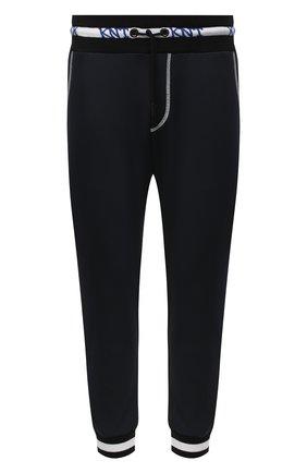 Мужские джоггеры KNT темно-синего цвета, арт. UPKN002J02T34 | Фото 1 (Материал внешний: Хлопок, Лиоцелл; Силуэт М (брюки): Джоггеры; Длина (брюки, джинсы): Стандартные; Стили: Спорт-шик)