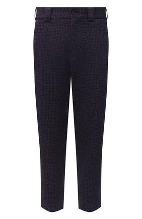 Мужские брюки из хлопка и шерсти HARRIS WHARF LONDON синего цвета, арт. C3006MER | Фото 1
