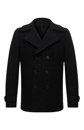 Мужской шерстяной бушлат HARRIS WHARF LONDON черного цвета, арт. C9214MLC | Фото 1 (Длина (верхняя одежда): Короткие; Материал внешний: Шерсть; Рукава: Длинные; Стили: Классический; Мужское Кросс-КТ: Верхняя одежда, пальто-верхняя одежда)