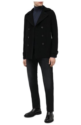 Мужской шерстяной бушлат HARRIS WHARF LONDON черного цвета, арт. C9214MLC | Фото 2 (Длина (верхняя одежда): Короткие; Материал внешний: Шерсть; Рукава: Длинные; Стили: Классический; Мужское Кросс-КТ: Верхняя одежда, пальто-верхняя одежда)