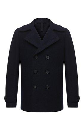 Мужской шерстяной бушлат HARRIS WHARF LONDON темно-синего цвета, арт. C9214MLC | Фото 1 (Мужское Кросс-КТ: Верхняя одежда, пальто-верхняя одежда; Длина (верхняя одежда): Короткие; Рукава: Длинные; Стили: Классический; Материал внешний: Шерсть)
