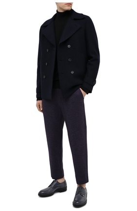 Мужской шерстяной бушлат HARRIS WHARF LONDON темно-синего цвета, арт. C9214MLC | Фото 2 (Мужское Кросс-КТ: Верхняя одежда, пальто-верхняя одежда; Длина (верхняя одежда): Короткие; Рукава: Длинные; Стили: Классический; Материал внешний: Шерсть)