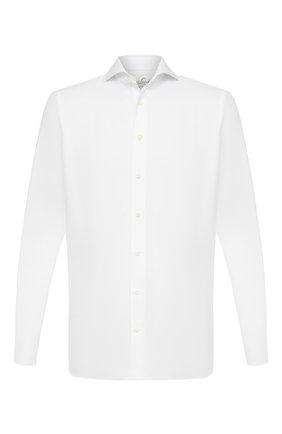 Мужская хлопковая сорочка VAN LAACK белого цвета, арт. RES0-SF/161771 | Фото 1 (Случай: Формальный; Длина (для топов): Стандартные; Стили: Классический; Рукава: Длинные; Материал внешний: Хлопок)