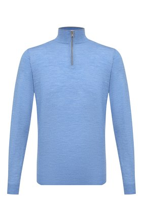 Мужской шерстяной джемпер FEDELI голубого цвета, арт. 3UI07131B   Фото 1