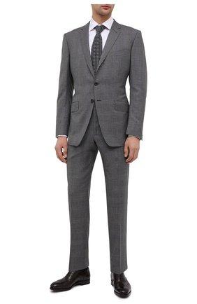 Мужские кожаные оксфорды SALVATORE FERRAGAMO темно-коричневого цвета, арт. Z-07327233E   Фото 2