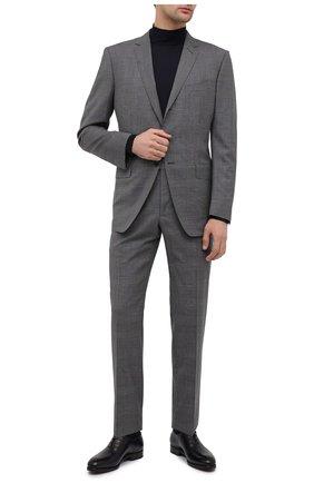 Мужские кожаные оксфорды SALVATORE FERRAGAMO темно-синего цвета, арт. Z-06951143E | Фото 2