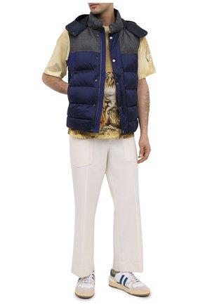 Мужской утепленный жилет Z ZEGNA синего цвета, арт. VV085/ZZ081 | Фото 2 (Материал подклада: Синтетический материал; Стили: Кэжуэл; Длина (верхняя одежда): Короткие; Материал внешний: Синтетический материал; Мужское Кросс-КТ: Верхняя одежда; Кросс-КТ: Пуховик, Куртка)