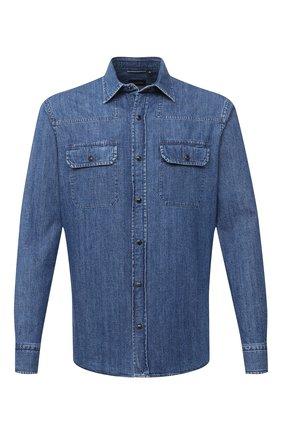 Мужская джинсовая рубашка ERMENEGILDO ZEGNA синего цвета, арт. UVX46/STT3 | Фото 1