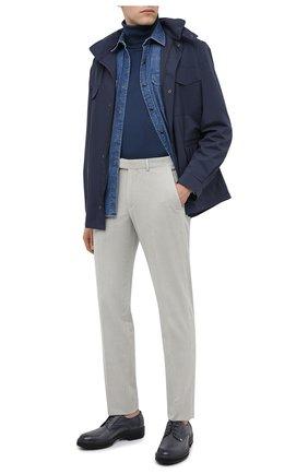 Мужская джинсовая рубашка ERMENEGILDO ZEGNA синего цвета, арт. UVX46/STT3 | Фото 2