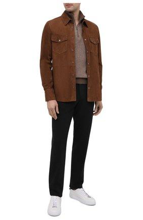 Мужские шерстяные брюки ERMENEGILDO ZEGNA темно-серого цвета, арт. UVI17/TT11 | Фото 2