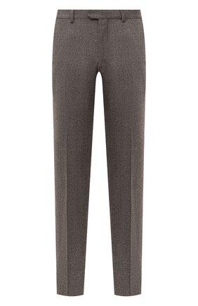 Мужские шерстяные брюки Z ZEGNA коричневого цвета, арт. 8ZF370/7FSAC2   Фото 1