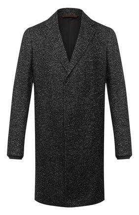 Мужской пальто из шерсти и льна ERMENEGILDO ZEGNA темно-серого цвета, арт. 889000/4GCPS0 | Фото 1