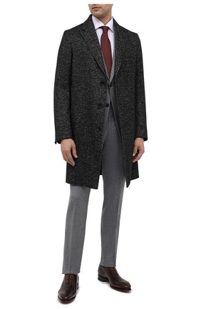 Мужской пальто из шерсти и льна ERMENEGILDO ZEGNA темно-серого цвета, арт. 889000/4GCPS0 | Фото 2