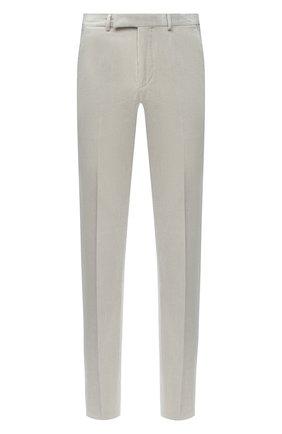 Мужские брюки из хлопка и кашемира ERMENEGILDO ZEGNA светло-серого цвета, арт. 865F09/77TB12 | Фото 1