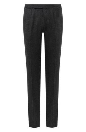 Мужские шерстяные брюки ERMENEGILDO ZEGNA серого цвета, арт. 830F02/75F812 | Фото 1