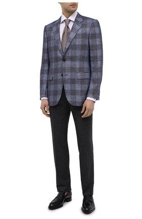 Мужские шерстяные брюки ERMENEGILDO ZEGNA серого цвета, арт. 830F02/75F812 | Фото 2