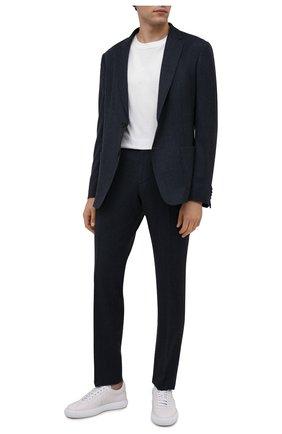 Мужской шерстяной костюм Z ZEGNA синего цвета, арт. 824715/2X7YGX   Фото 1 (Рукава: Длинные; Костюмы М: Однобортный; Материал внешний: Шерсть; Стили: Классический)