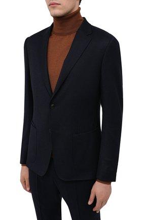 Мужской шерстяной костюм Z ZEGNA темно-синего цвета, арт. 824714/2X7YGW   Фото 2