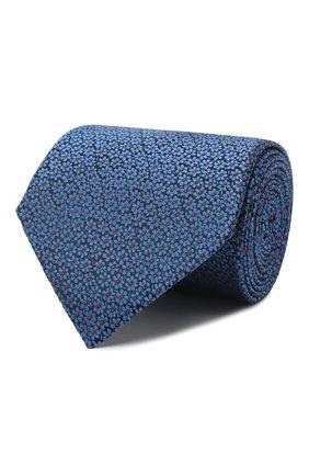 Мужской шелковый галстук LANVIN темно-синего цвета, арт. 3053/TIE   Фото 1