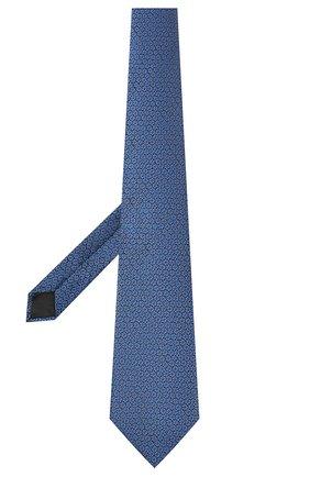 Мужской шелковый галстук LANVIN темно-синего цвета, арт. 3053/TIE   Фото 2
