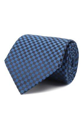 Мужской шелковый галстук LANVIN темно-синего цвета, арт. 3050/TIE   Фото 1