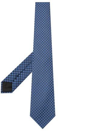 Мужской шелковый галстук LANVIN темно-синего цвета, арт. 3050/TIE   Фото 2