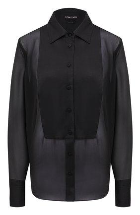 Женская шелковая блузка TOM FORD черного цвета, арт. CA3165-FAX058   Фото 1