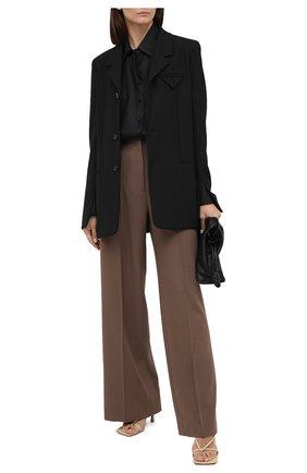 Женская шелковая блузка TOM FORD черного цвета, арт. CA3165-FAX058   Фото 2