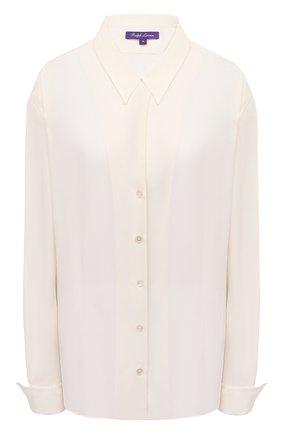 Женская шелковая рубашка RALPH LAUREN кремвого цвета, арт. 293829105 | Фото 1