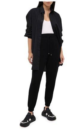 Женские брюки из шерсти и кашемира MRZ черного цвета, арт. FW20-0052 | Фото 2