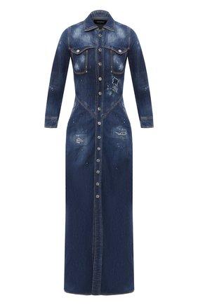 Женское джинсовое платье DSQUARED2 синего цвета, арт. S72CV0128/S30341 | Фото 1